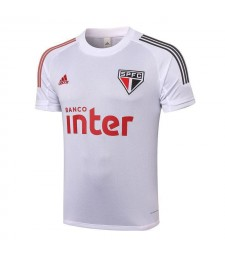 Sao Paulo White Training Soccer Jerseys Mens Football Shirts 2020-2021