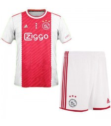 Ajax Home Kids Kit Soccer Children Football Shirt Match Youth Uniforms 2020-2021