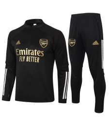 Arsenal Kids Kit Half Zip Black Mens Training Soccer Tracksuit 2020-2021