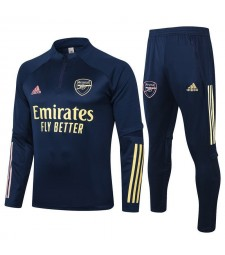 Arsenal Half Zip Royal Blue Mens Training Soccer Tracksuit 2020-2021