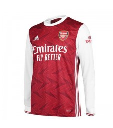 Arsenal Home Long Sleeve Soccer Jersey Match Mens Sportwear Football Shirt 2020-2021