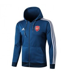Arsenal Long Zip Color Blue Hoodie Jacket 2019 2020