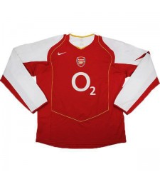 Arsenal Home Retro Jersey Mens First Soccer Sportwear Football Long Sleeves 2004-2005