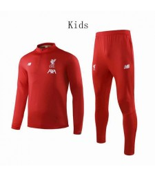 Liverpool Red Round Neck Kids Soccer Tracksuit 2019-2020