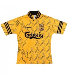 Liverpool Retro Yellow Soccer Jersey Mens Football Shirts 1994-1996
