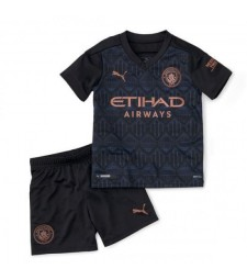 Manchester City Away Soccer Jersey Kids Football Kit Youth Uniforms 2020-2021
