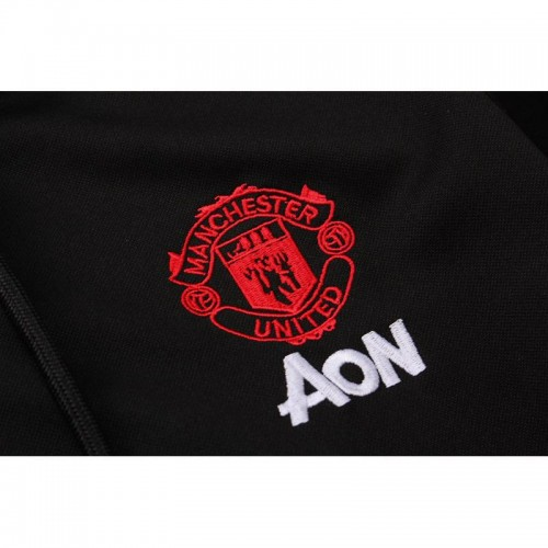 0a22d00e444 Manchester United Black Kids Tracksuit Hoodie 2018 2019