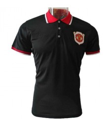 Manchester United 20th Anniversary Black Polo
