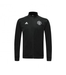 Manchester United Black Jacket Player Version High Neck 2019-2020