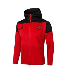 Manchester United Red Soccer Hoodies Tracksuit Football Jacket 2020-2021