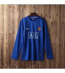 Manchester United Away Long Sleeve Retro Mens Soccer Jersey Football Shirt 2007-2008