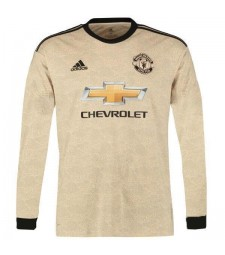 Manchester United Away Long Sleeve Jersey Soccer Football Shirt 2019-2020
