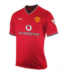 Manchester United Home Retro Jersey Mens Football Shirt 2000-2001
