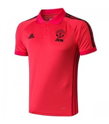 Mancheste United Polo Jersey Shirt Red 2019