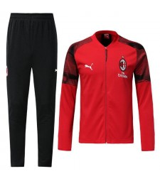 AC Milan Red V Neck Tracksuit 2018/2019