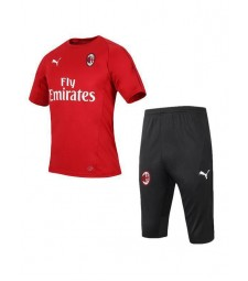 AC Milan Red Training Shirt Kit 2019