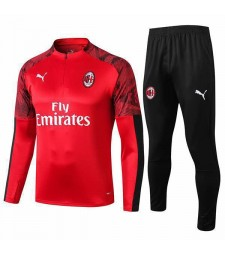 AC Milan Tracksuit Soccer Red Football Training Jersey 2019-2020