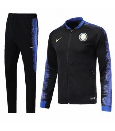 Inter Milan Black Printed Sleeve Tracksuit 2018/2019