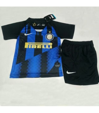 info for 9b32a 95b37 Inter Milan Kids Kit 20th Commemorative Edition Jersey Blue 2019