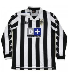 Juventus Home Long Sleeves Retro Soccer Jersey Mens Shirt 1999-2000
