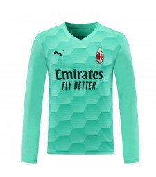 AC Milan Goalkeeper Long Sleeve Sky Blue Soccer Jersey Football Shirts Uniforms 2020-2021