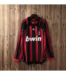 AC Milan Retro Long Sleeve Home Soccer Jerseys Mens Football Shirts Uniforms 2006