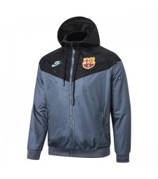 Barcelona Gray Black Soccer Windrunner 2020